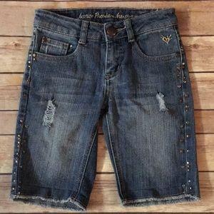 Justice Denim Bermuda Shorts
